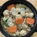 簡単♪メインに♪抜き型でハロウィン鍋