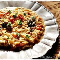 簡単■牡蠣とトマトのクリームリゾット■ディナーショーレシピ(・∀・)
