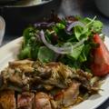 ストウブで「栗ごはん」と鶏肉ときのこのハーブソテー
