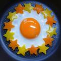 可愛い目玉焼き☆2色星