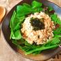 シャキっと爽やか。レンチンだけの海苔タラモ風サラダ(糖質3.9g)