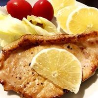 さっぱり豚ロース肉のレモンソテー、ソイラテ@スタバ