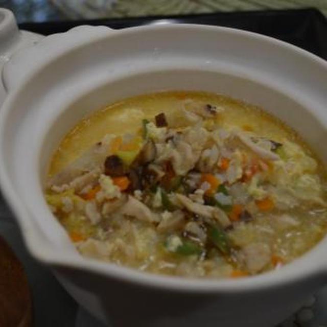 野菜たっぷり中華雑炊 & ビーフブリスケットのBBQ