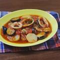 甘味と酸味が絶妙!やわらかイカとじゃが茄子のトマト煮