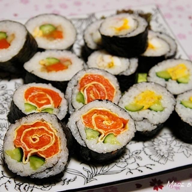 花尽くしのひな祭り <薔薇ロール寿司>が掲載されました♪
