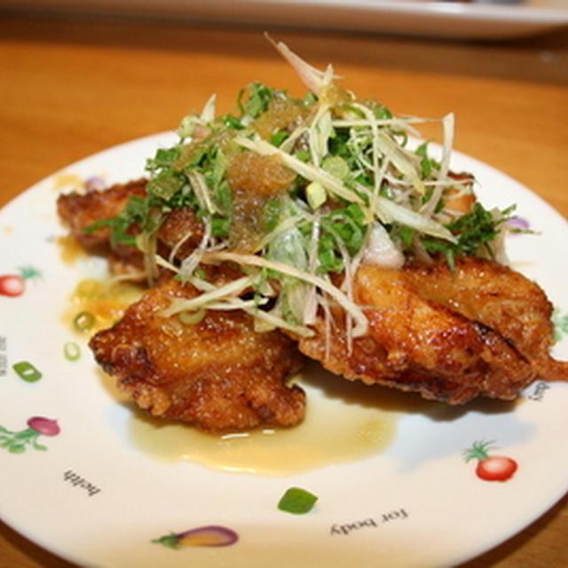 鶏の唐揚げオニオンソース