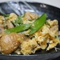 365日糖質オフレシピNo.87「鶏肉と絹さやの卵とじ」