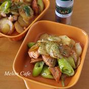 鮭と野菜のしょうゆバター炒め