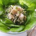 ホタテとサラダ菜スーパースプラウトサラダ
