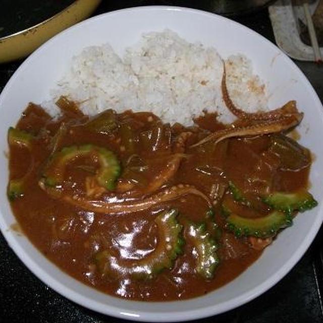 ◎[料理]いかとゴーヤの夏バテ解消カレー