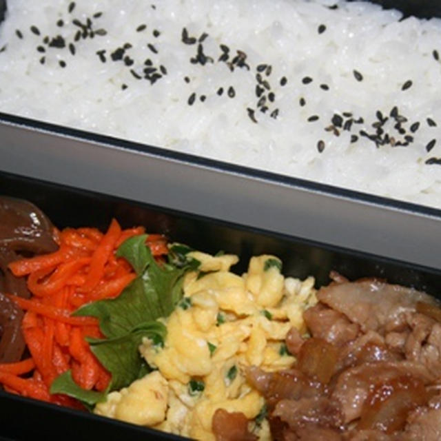1月14日  豚肉と玉葱の甘辛炒め弁当