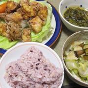 昨日の夕飯(8/20):凍り豆腐の唐揚げ他