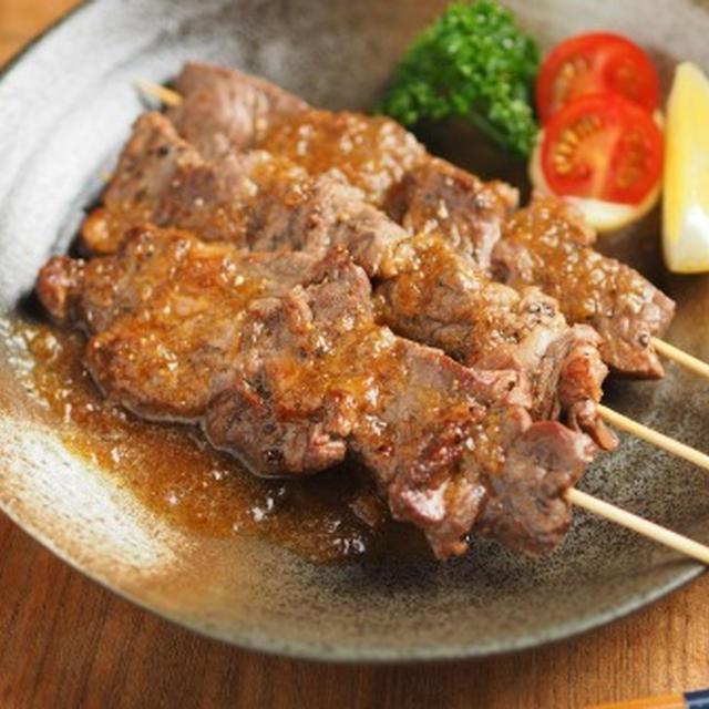 牛ステーキ串、牛ステーキ用肉を焼き鳥にする!