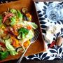 【簡単カフェパスタ】7種類の野菜とベーコンのペペロンチーノ