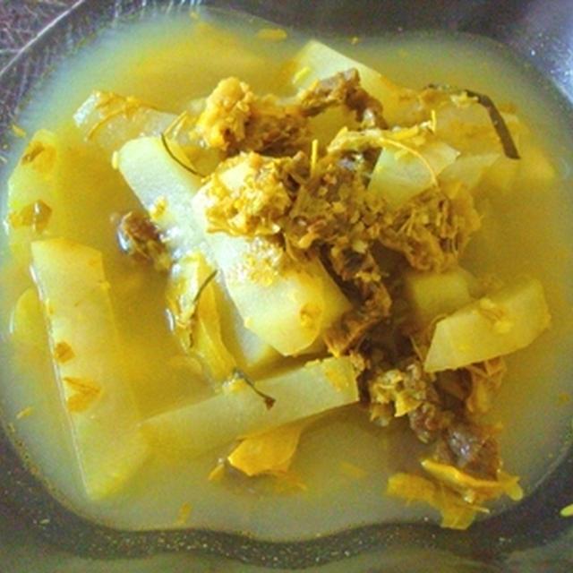 カンボジア家庭料理 酸っぱいスープ