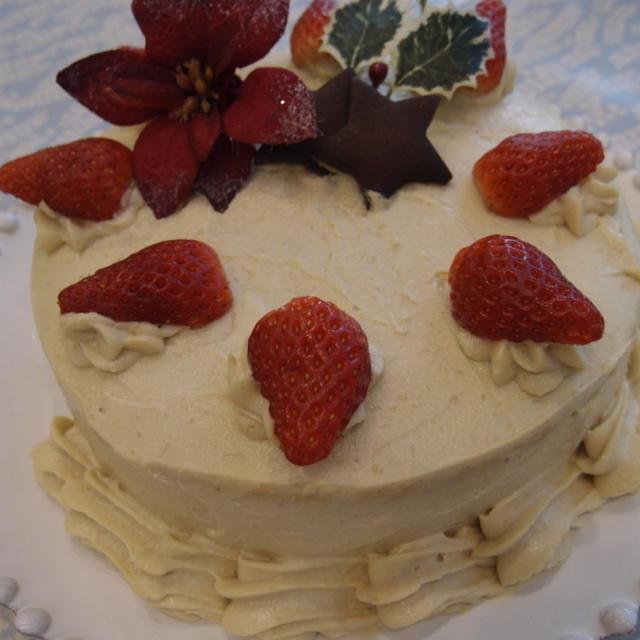 マクロビオティッククリスマスケーキ(卵・牛乳なしで作るデコレーションケーキレシピ紹介)