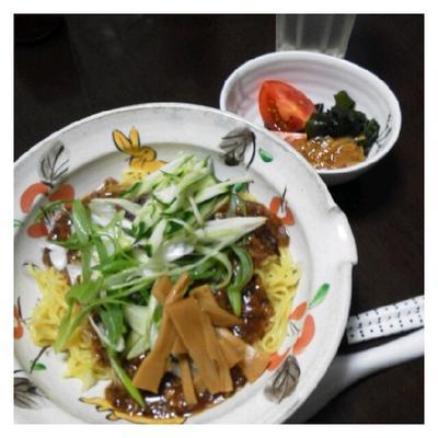 今日の夕ご飯☆じゃじゃ麺もどき