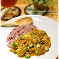 「カレー」 豆腐とホタテとオクラのカレー