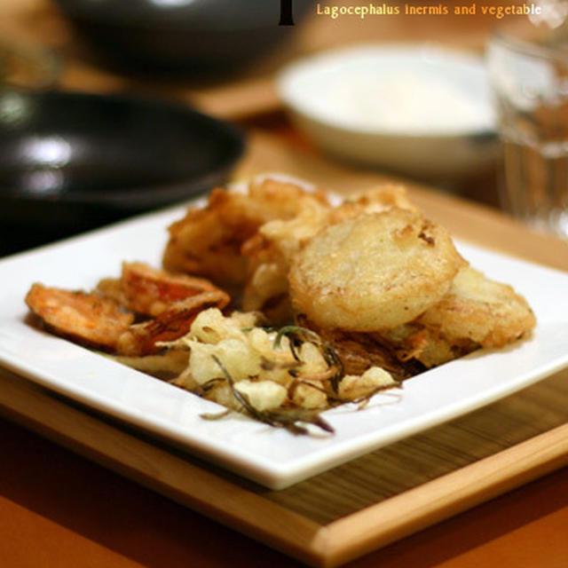 天ぷらと芋羊羹