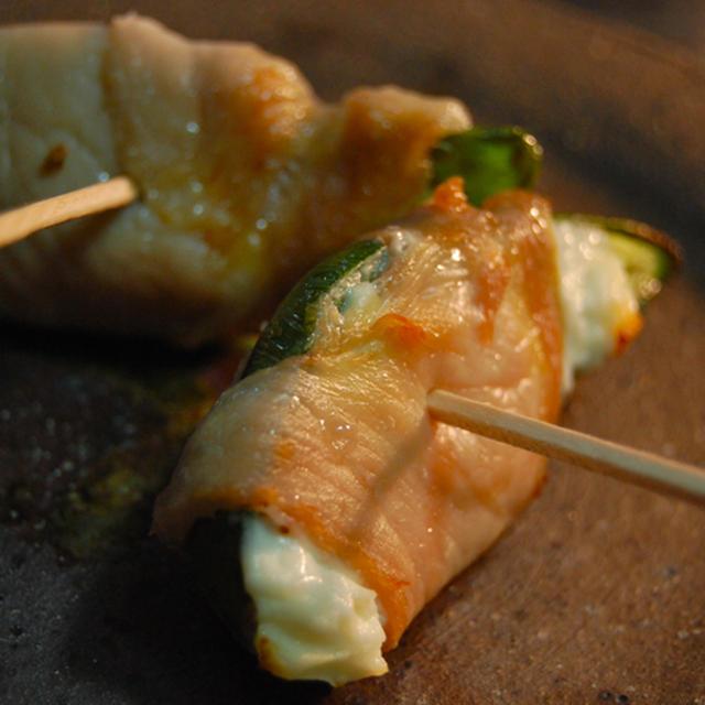 おつまみ3種♪焼ハラペーニョ・海苔カマンベール・魚醤煮豚