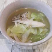ゆで汁もゼンブ活用♪優しい甘み×とろみ!白菜と舞茸のスープ