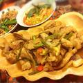 レシピ☆豚トロのタイ風味噌生姜焼き