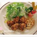 干し椎茸と高野豆腐の唐揚げ