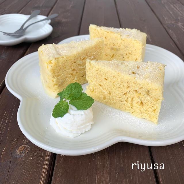 【レンジで簡単おやつ】カルピスバナナケーキ