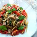 フレッシュトマトとツナのスパゲッティ エオリエ風