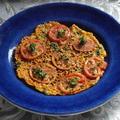 フライパンdeパリパリトマトのチーズ焼き