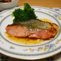 鮭のムニエル 檸檬バターソース