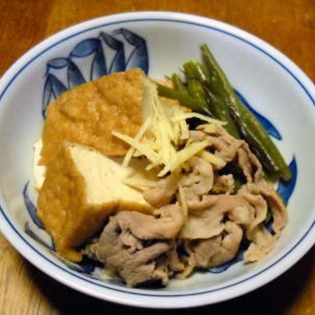 厚揚げと豚肉の煮物