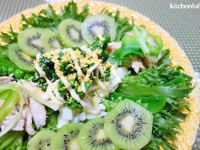 >春のグリーンサラダ☆春野菜のパワーサラダで目覚め by べにゆうさん