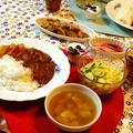 お肉入りのカレーの晩ご飯と、、ご飯の量ウンヌン