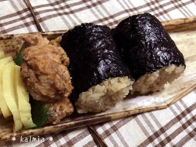 【手作り】簡単♪炊き込みちらし寿司*竹皮で包んだオニギリ