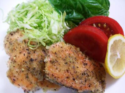 鮭のバジル風味
