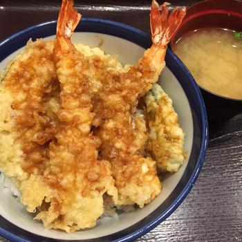 毎月18日はてんやの日上天丼500円(゚∀゚)