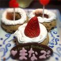 誕生日第2弾はデコ焼きドーナツ by quericoさん