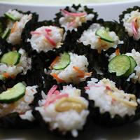 すし酢とカップ海苔で簡単混ぜ寿司