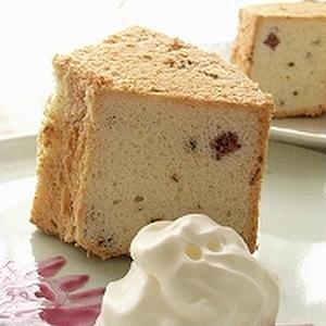 桜のエンジェルフードケーキ