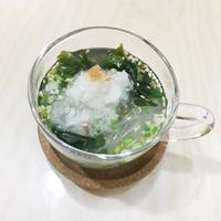 リケンのわかめスープアレンジ 大根おろしと梅をちょい足ししてさっぱり春雨スープ