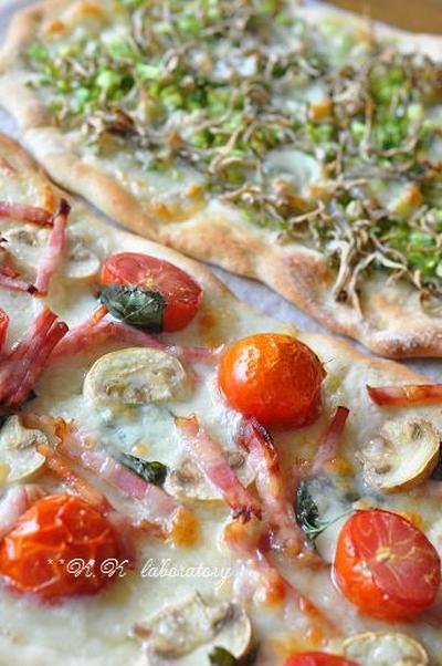 グリーンナッツオイルのクリスピーピザ