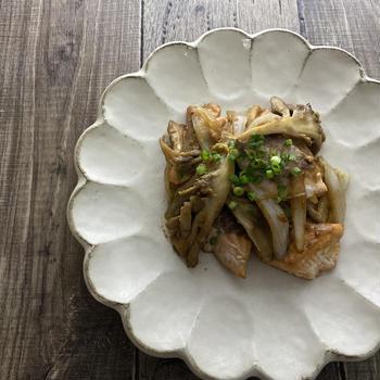 鮭と舞茸の味噌炒め
