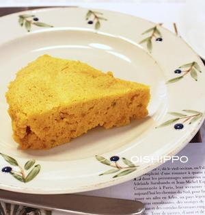 電子レンジで簡単♪パンプキンチーズケーキ