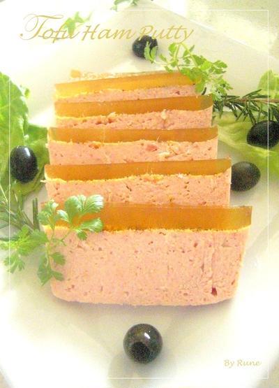 絹ごし豆腐で作るハムパテ☆*。・