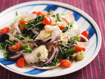 鶏むね肉水晶の海藻サラダ風