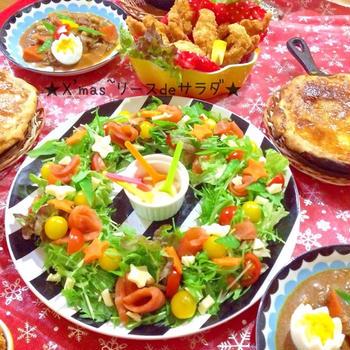 ☆クリスマスの1品に リースサラダ☆