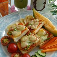 《レシピ有》ピザトーストがメイン!な野菜プレート、人気検索トップ10入り、食事の記録7/24。