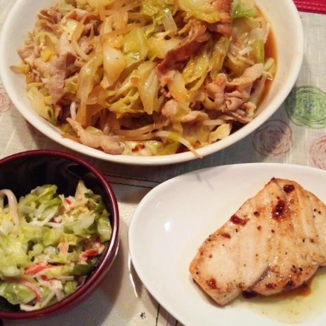 休職中にエクセサ~イズ♪ 6月21日の晩ご飯【メカジキのステーキ】