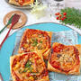 冷凍パイシートとトースターで簡単♪コーンベーコン&しらすアンチョビ2種のピザパイ